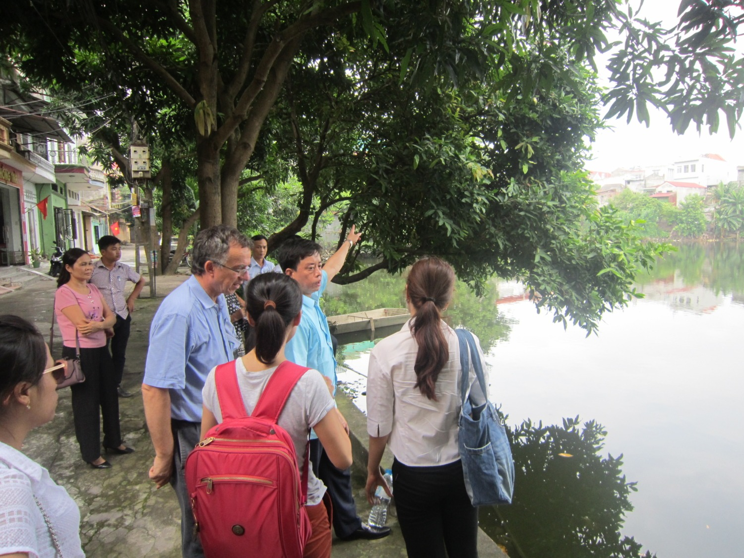 Officials, TCG members and ICEM team visited Nha Dau lake in Bac Giang, Vietnam
