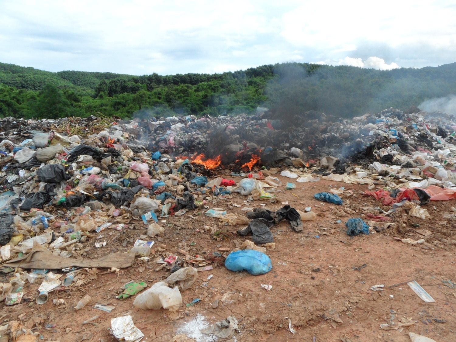 Landfill in Luang Nantha, Lao PDR