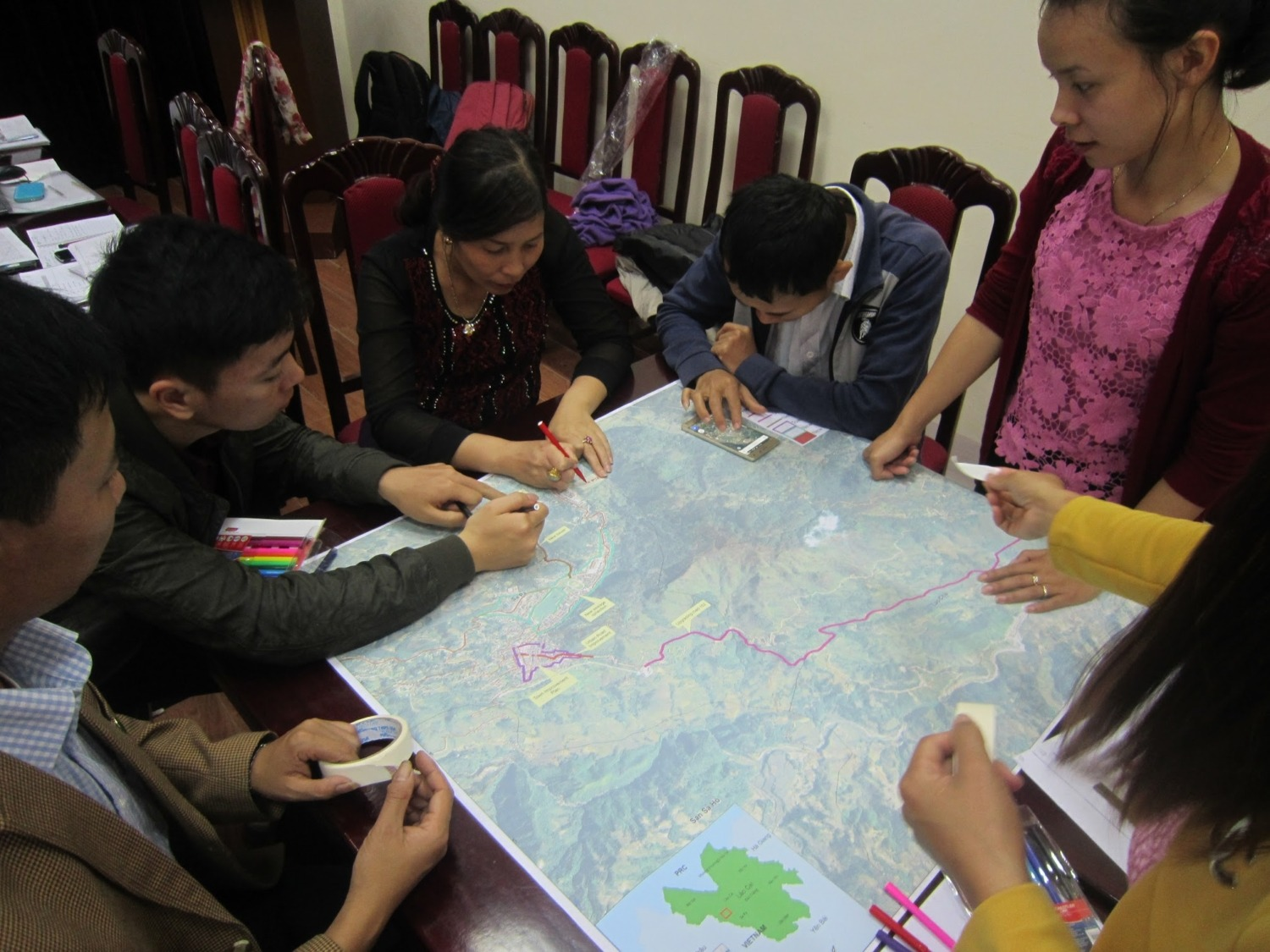 Participatory mapping by TCG members in Sa Pa, Vietnam