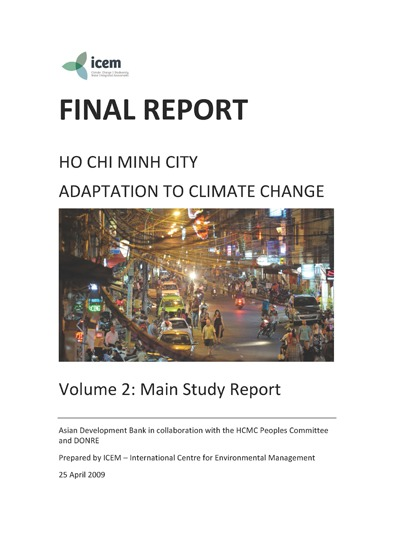 VOL 2: Ho Chi Minh City Adaptation to Climate Change: Main Report