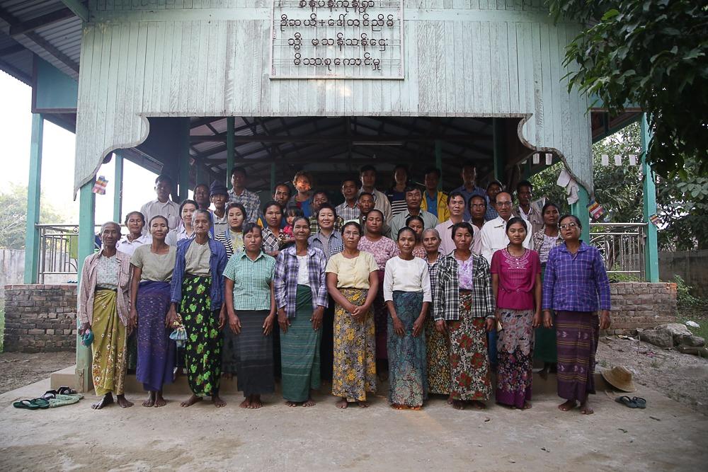 Community training participants at Sein Pan Kone Village, Myanmar.